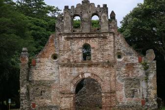 Ujarraz-Ruine im Guarco Tal, Cartago, Costa Rica. Erste erbaute Kirche in Costa Rica während der Kolonialzeit.
